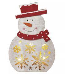 EMOS bałwan bożonarodzeniowy LED 30 cm, ciepły biały