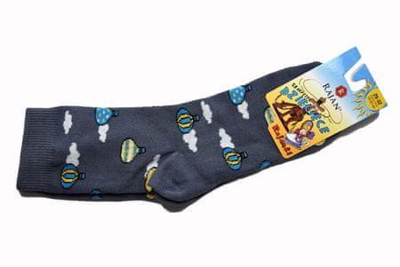 "Otroške nore nogavice - ""Baloni"" - modra - 29–32"