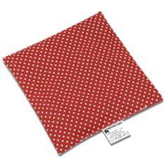 Babyrenka Babyrenka nahřívací polštářek 15x15 cm z třešňových pecek Dots red