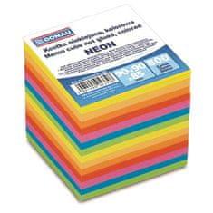 Donau Papírové bločky v kostce, barevné, 90x90x85