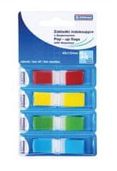 Donau Záložky, 4x35 lístků, 12x45 mm, DONAU, mix barev