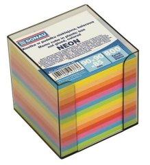 Donau Papírové bločky v kostce 89x89x85 mm, se stojánkem, DONAU, barevné