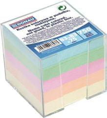 Donau Papírové bločky v kostce 83x83x75 mm, se stojánkem, DONAU, barevné