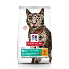 Hill's hrana za mačke Science Plan Feline Adult Perfect Weight Chicken, 7 kg