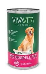 Vivavita konzervirana hrana za pse s janjetinom, 12x1240 g