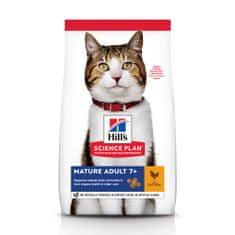 Hill's hrana za mačke Science Plan Feline Mature Adult 7+ Chicken, 10 kg