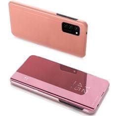 MG Clear View knížkové pouzdro na Huawei P40 Lite, růžové