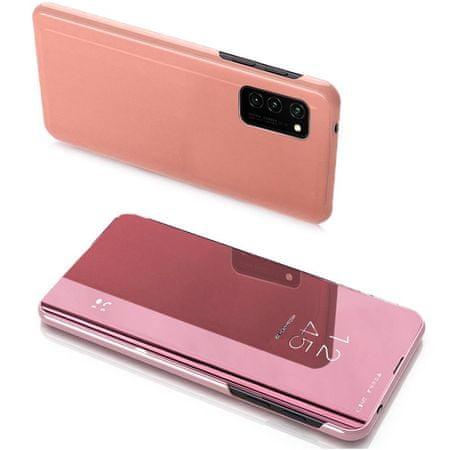 MG Clear View knjižni ovitek za Huawei Y7 2019 / Y7 Prime 2019, roza