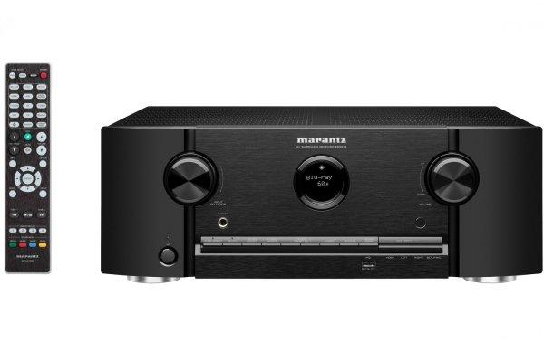 ultravýkonný av receiver marantz SR5015-N1 bluetooth audyssey heos wifi hdmi 8k video dolby atmost dts x dolby vision hdr 7 kanálů výkon 180 w na kanál stylový design dálkové ovládání vhodný pro hráče