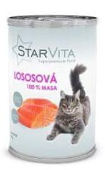 Starvita konzerva za mačke s mljevenim lososom 15x400 g