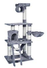 BestPet Škrabadlo pro kočky Chiara STRONG šedá 141 cm