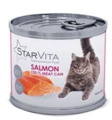 Starvita konzerva za mačke s mljevenim lososom 15x200 g