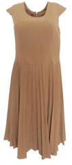 BIBISE Šaty s plisovanou sukénkou BIBISE Hnědá 42