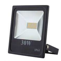 FKT LED reflektor Slim SMD 30W čierny, 5500K, 2700lm, IP65, 4738301