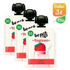 BePlus 3x BIO kapsička jahody a jogurt 90g