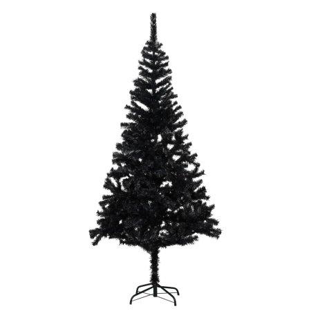 shumee fekete PVC műkarácsonyfa állvánnyal 180 cm