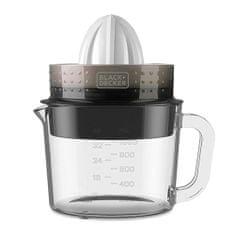 Black+Decker Citruss nyomógép üvegedénnyel, 9204568 | Citruss nyomógép üvegedénnyel