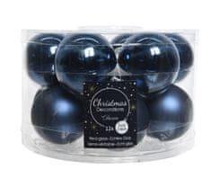 Kaemingk Set skleněných ozdob - tmavě modrá - 12 ks