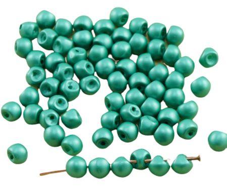 Kraftika 60db matt gyöngy smaragd zöld vattacukor extra kis gomba