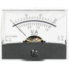 Conrad Analogové panelové měřidlo VOLTCRAFT AM-60X46/30V/1,5A/DC 30 V/1.5 A