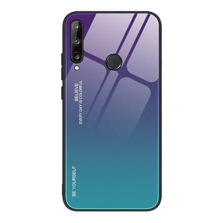 MG Gradient Glass műanyag tok Huawei P40 Lite E, kék/lila