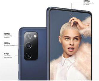 Samsung Galaxy S20 FE, širokouhlý, ultraširokouhlý fotoaparát, teleobjektív, optick zoom