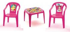 IPAE DISNEY sada PRINCESS 2 židličky + stoleček