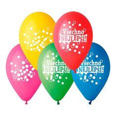 Latexové balóniky - Všetko najlepšie - 5 ks - 30 cm