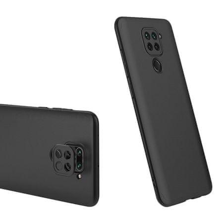 GKK 360 Full Body műanyag tok Xiaomi Redmi 10X 4G / Redmi Note 9, fekete