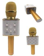 Teddies Mikrofon karaoke kov 25cm zlatý