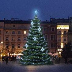 DecoLED LED svetelná sada na stromy vysoké 9-11, ľadová biela s dekory EFD09S2