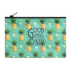 Legami Kosmetická taštička se zipem Ananas 21,5x13,5 cm