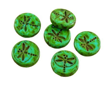 Kraftika 4db picasso türkiz zöld barna foltos travertin rusztikus
