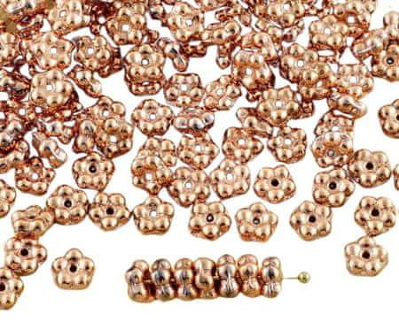 Kraftika 80pcs metallic capri złoto miedź czeskie szkło małe płaskie