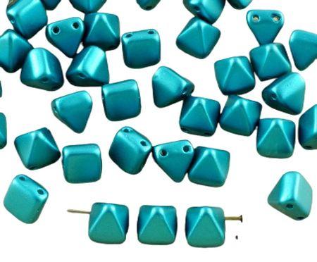 Kraftika 16db gyöngy pasztell teal kék türkiz kis piramis stud 2 két