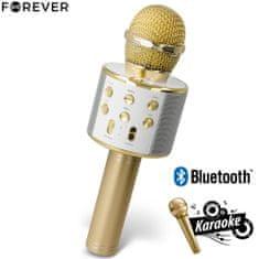 Forever BMS-300 mikrofon z zvočnikom, zlat