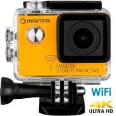 Manta MM9259 Steadycam Active, 4K-UHD aktivna sportska kamera, SONY senzor + stabilizator