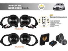 Musway Kompletní ozvučení Audi A4 B7 Avant (2005-2008) - skvělý zvuk