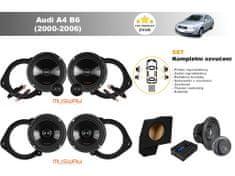 Musway Kompletní ozvučení Audi A4 B6 Sedan (2000-2006) - skvělý zvuk