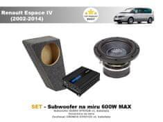 Audio-system SET - subwoofer na míru do Renault Espace IV (2002-2014) - Audio System
