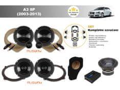 Musway Kompletní ozvučení Audi A3 8P (2003-2013) - skvělý zvuk