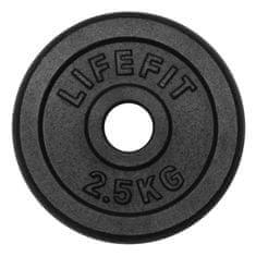 Rulyt LifeFit uteg, crni, 2,5 kg