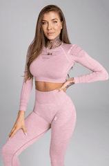 Gym Glamour Crop-Top Pink Melange