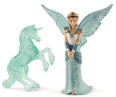 Schleich elfka Eyela z lodową rzeźbą jednorożca 70587