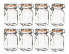 Banquet Dóza sklenená hermetická LINA 250 ml 8ks oranžová
