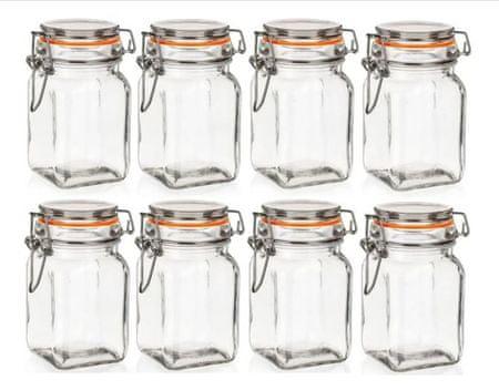 Banquet Hermetikus üveg edény LINA 250 ml 8db narancssárga