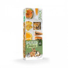 Witte Molen PUUR lahodné tyčinky s exotickým ovocím pre hlodavce 110g