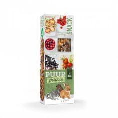 Witte Molen PUUR lahodné tyčinky s lesným ovocím pre hlodavce 110g