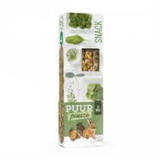 Witte Molen PUUR lahodné tyčinky s bylinkami pre hlodavce 180g