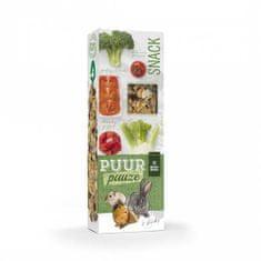 Witte Molen PUUR lahodné tyčinky so zeleninou/brokolica-rajčiny/ pre hlodavce 110g